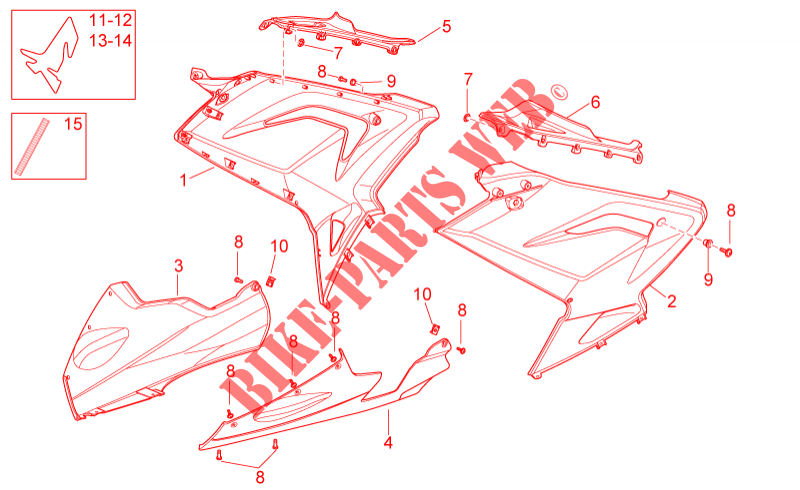 Mittlerer Aufbau für Aprilia RS 2007 # APRILIA - Online ...